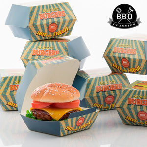 BBQ Classics Set of Burger Boxes (Pack of 8)-Universal Store London™