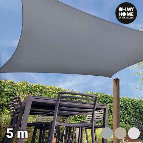 Oh My Home Ambience Square Sail Awning (5 metres)-Universal Store London™