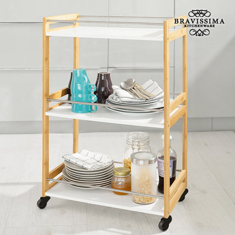Image of Bravissima Kitchen Bamboo Waitress Trolley-Universal Store London™