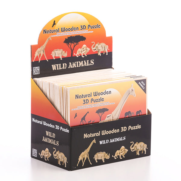 Junior Knows 3D Wooden Wild Animals Puzzle-Universal Store London™