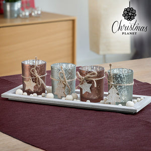 Christmas Planet Christmas Candle Holder Centrepiece-Universal Store London™