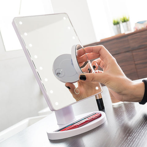 Image of Primizima LED Magnifying Mirror for Putting on Make up-Universal Store London™