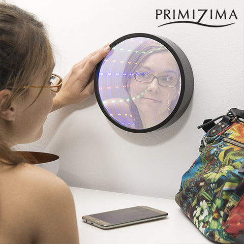 Image of Primizima Multicolor LED Mirror with Tunnel Effect-Universal Store London™