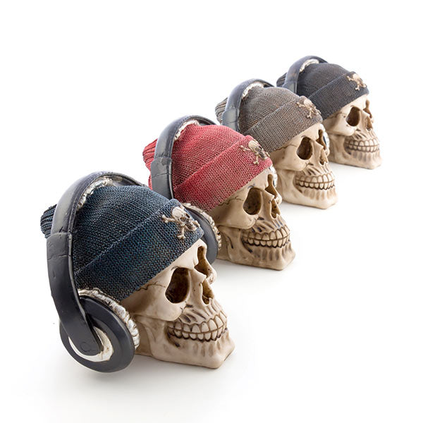 Gadget and Gifts Pirate Skull Piggy Bank with Earphones-Universal Store London™
