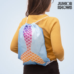 Junior Knows Mermaid Drawstring Bag-Universal Store London™
