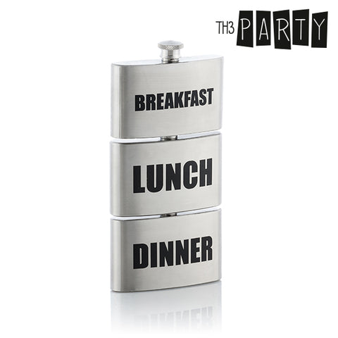 Image of Th3 Party Breakfast-Lunch-Dinner Metal Flask-Universal Store London™