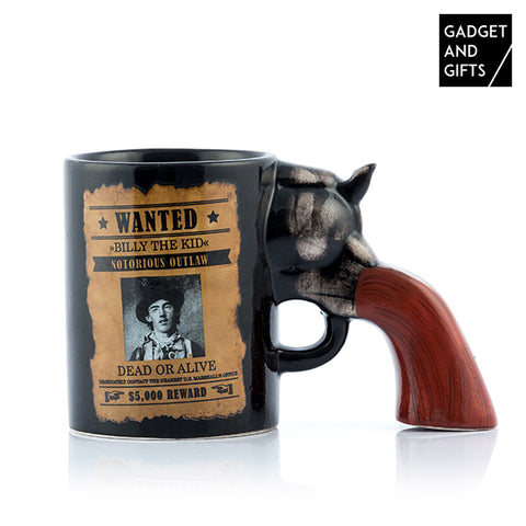Gadget and Gifts Revolver Wanted Mug-Universal Store London™