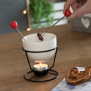 Hearts Mini Chocolate Fondue Set (4 Pieces)-Universal Store London™