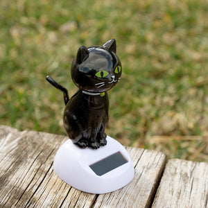 Solar Black Cat with Movement-Universal Store London™