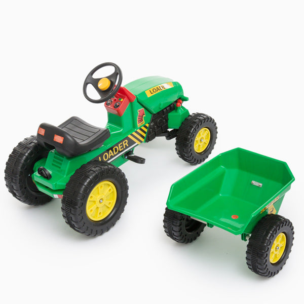 Toy Tractor with Trailer and Pedals-Universal Store London™