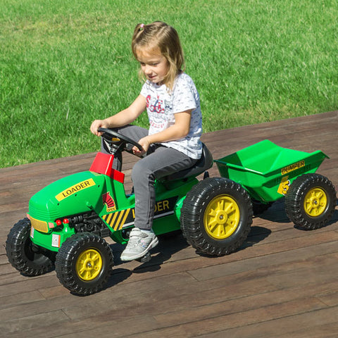 Image of Toy Tractor with Trailer and Pedals-Universal Store London™