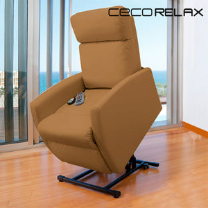 Cecorelax Compact Camel 6006 Lifter Armchair With Massager-Universal Store London™