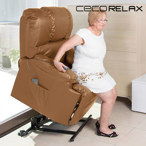 Cecorelax Camel 6010 Lifter Armchair With Massager-Universal Store London™