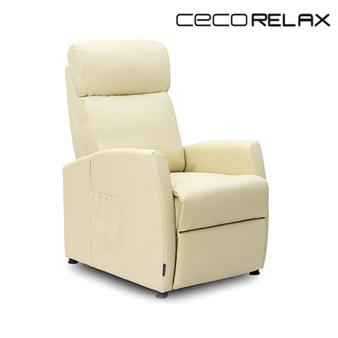 Cecorelax 6181 Relaxing Reclining Compact Beige Massage Armchair-Universal Store London™