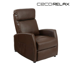 Brown Massaging Push Back Recliner Cecorelax 6182-Universal Store London™