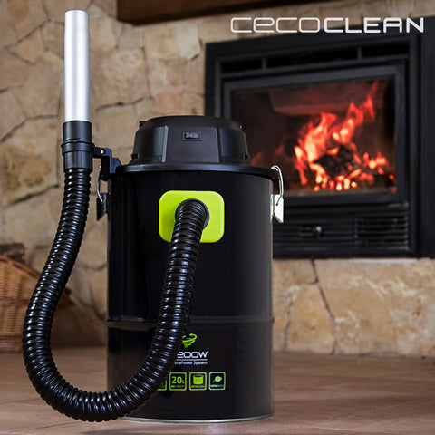 Image of Cecoclean PowerAsh 5084 Ash Hoover 20 L 1200W Black Green-Universal Store London™