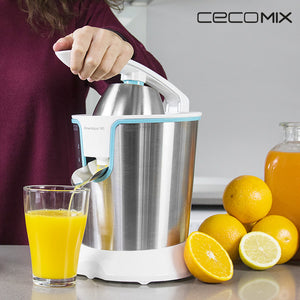 Cecomix Adjust White 4076 160W Steel Electric Juicer with Handle-Universal Store London™