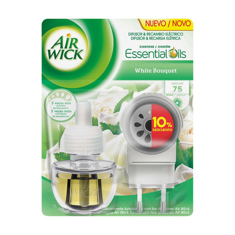 Air Wick White Bouquet Electric Air Freshener and Refill-Universal Store London™