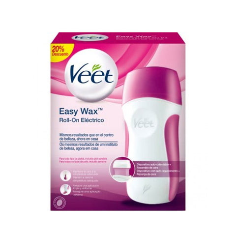 Veet Easy Wax Hair Removal Kit with Warm Wax Roll-on-Universal Store London™