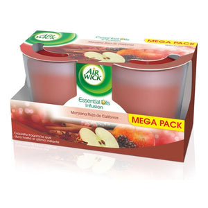 Air Wick Red California Apple Aromatic Candle (Pack of 2)-Universal Store London™