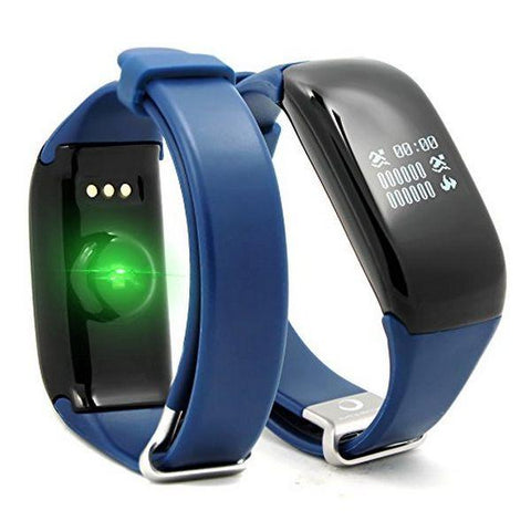 "Activity Bangle BRIGMTON BSPORT-14-A OLED 0.66"" Bluetooth 4.0 IP67 Android /iOS 26 g Blue-Universal Store London™"