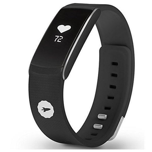 "Activity Bangle SPC FIT PULSE 9615N 0.73"" Bluetooth 4.0 Android /iOS Black-Universal Store London™"