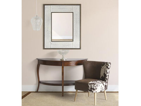 Image of Aged white rectangular mirror-Universal Store London™