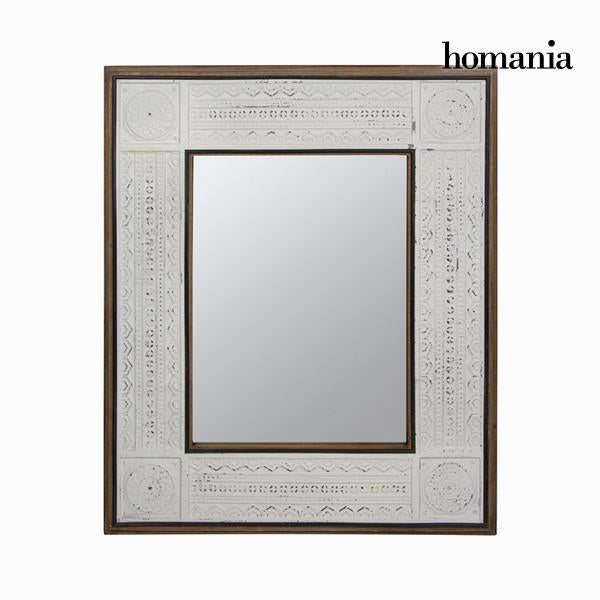 Aged white rectangular mirror-Universal Store London™