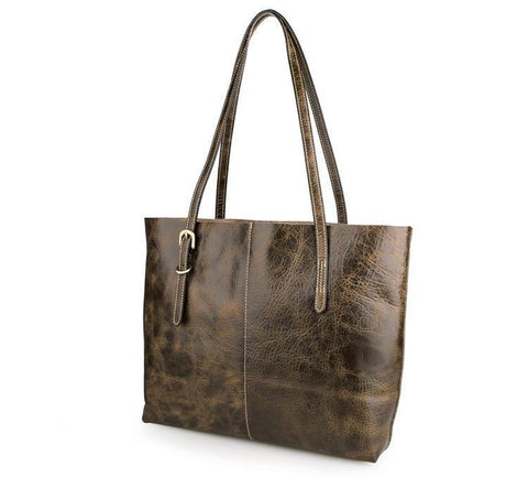 'Agnes' Leather Tote Bag-Universal Store London™
