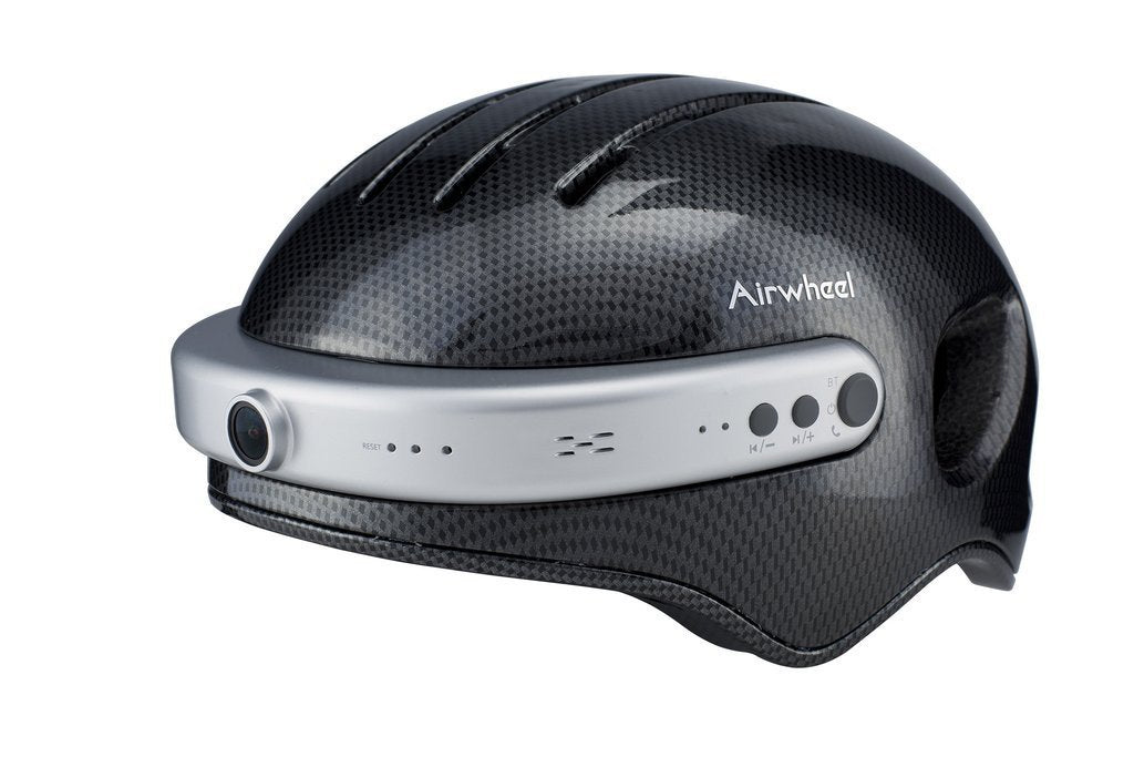 Airwheel C5 Carbon Fibre Helmet with Integrated Bluetooth and HD Cam - Black-Universal Store London™