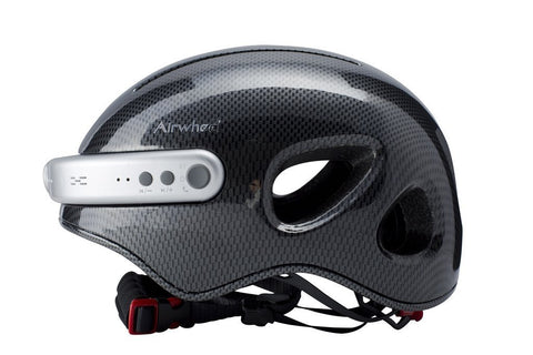 Image of Airwheel C5 Carbon Fibre Helmet with Integrated Bluetooth and HD Cam - Black-Universal Store London™
