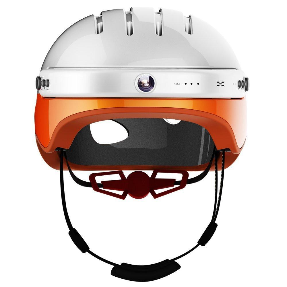 Airwheel C5 Carbon Fibre Smart Helmet with Integrated Bluetooth and HD Cam - Orange-Universal Store London™