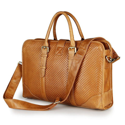 Image of Amalfi Italian Leather Briefcase for Women-Universal Store London™