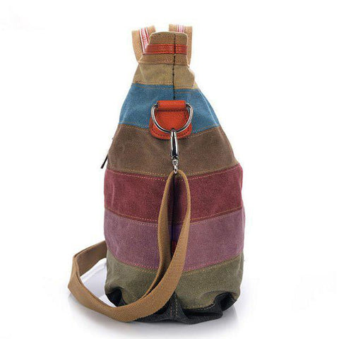 Image of 'Amelia' Canvas Vintage Handbag Cross-Body Tote Bag-Universal Store London™