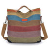'Amelia' Canvas Vintage Handbag Cross-Body Tote Bag-Universal Store London™