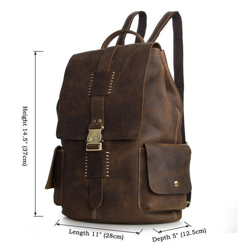 Image of 'American West' Vintage Handmade Leather Backpack-Universal Store London™