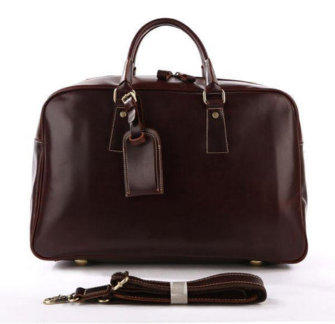 Image of Andy Saddle Leather Holdall Travel Bag - Copper Brown-Universal Store London™