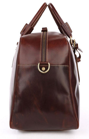 Andy Saddle Leather Holdall Travel Bag - Copper Brown-Universal Store London™
