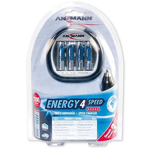 Ansmann Energy 4 Speed Charger with 4x 2700mAh AA Batteries-Universal Store London™