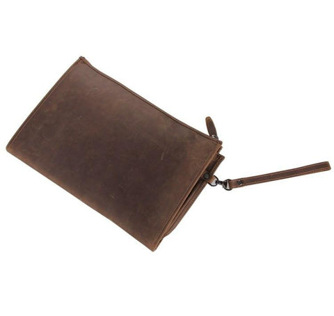Image of Anson Brown Leather Large Pocket Bag-Universal Store London™