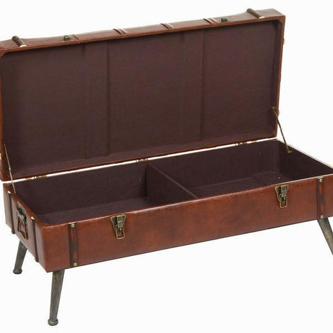 Image of Antoc brown trunk - Relax Retro Collection by Craftenwood-Universal Store London™