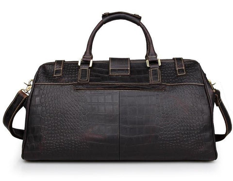 Image of 'Apollo' Cobblestone Leather Duffle Bag-Universal Store London™