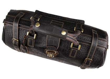 'Apollo' Cobblestone Leather Duffle Bag-Universal Store London™