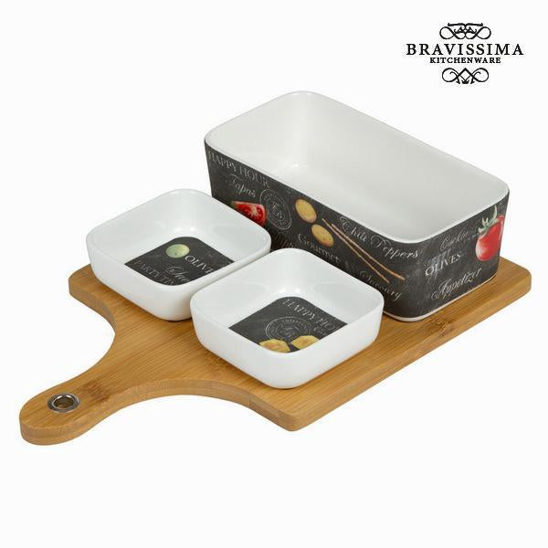 Appetizer set 4 pieces - Kitchen's Deco Collection by Bravissima Kitchen-Universal Store London™