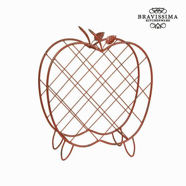 Apple metal wine basket by Bravissima Kitchen-Universal Store London™