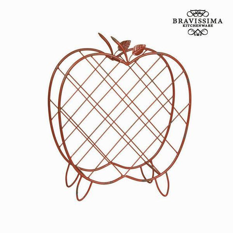 Image of Apple metal wine basket by Bravissima Kitchen-Universal Store London™