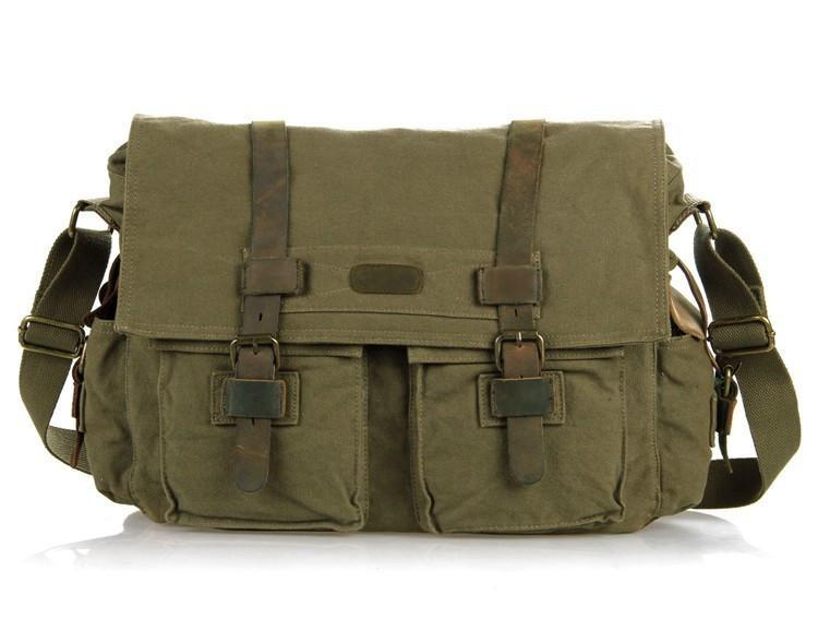 Army Green Military Style Messenger Bag-Universal Store London™