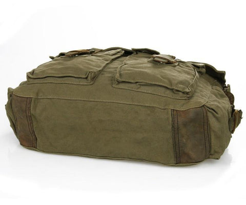 Image of Army Green Military Style Messenger Bag-Universal Store London™