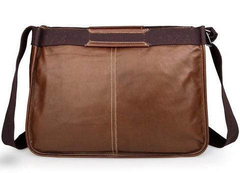 Image of Artisan Leather Messenger Bag - Brown-Universal Store London™