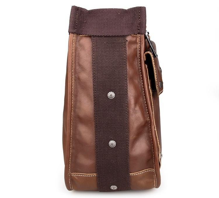 Artisan Leather Messenger Bag - Brown-Universal Store London™